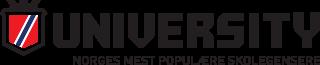 Illustrasjon av logo: University - Norges mest populære skolegensere